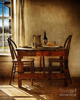 Table For Two Art Print by Priscilla Burgers