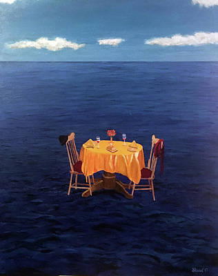 Painting - Table For Two by Thomas Blood