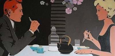 Table For Two Art Print by Varvara Stylidou