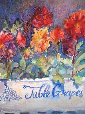Table Grapes Art Print by Joyce Kanyuk