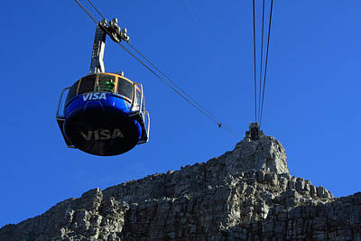 Photograph - Table Mountain Cable Car - Cape Town by Aidan Moran