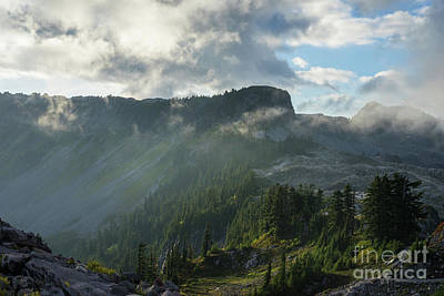 Photograph - Table Mountain Dramatic Light by Mike Reid