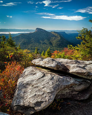 Table Rock Fall Morning Art Print