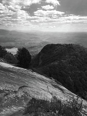 Photograph - Table Rock Overlook In Black And White by Kelly Hazel