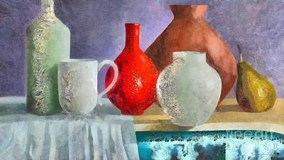 Painting - Table Setting 2 by Catherine Lott