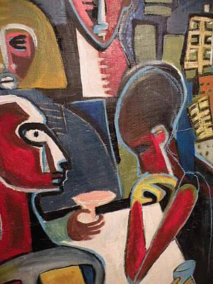 Robert Daniels Painting - Table Talk by Robert Daniels