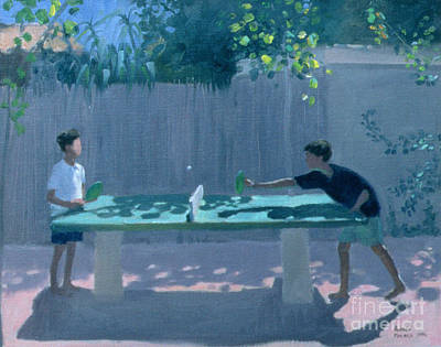 Ping Pong Wall Art - Painting - Table Tennis by Andrew Macara