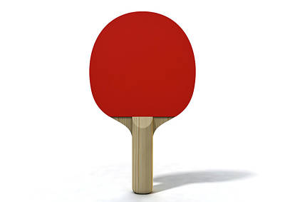 Competing Digital Art - Table Tennis Paddle by Allan Swart