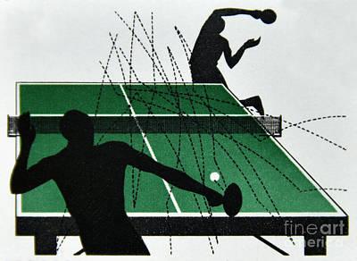 Table Tennis. Art Print by Stan Pritchard
