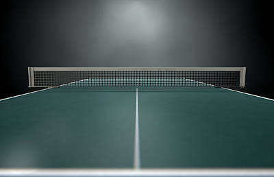 Table Tennis Table Art Print by Allan Swart