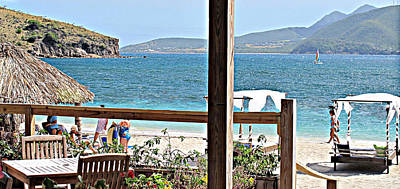 West Indies Photograph - Table With A View by Ian  MacDonald