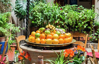 Photograph - Table With Bowl Of Fresh Fruit by Compuinfoto