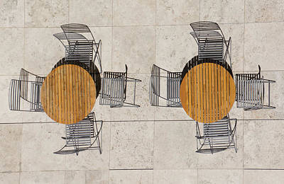 Photograph - Tables And Chairs by Dennis Reagan