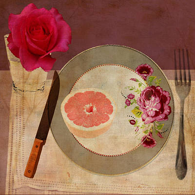 Digital Art - Tablescape by Lisa Noneman