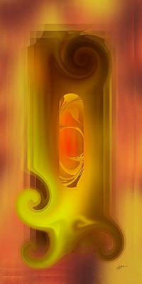 Digital Art - Tablet X - Digital Abstract by rd Erickson