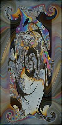 Digital Art - Tablet X I - Digital Abstract by rd Erickson