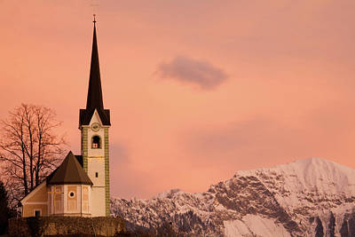Photograph - Tabor Church At Sunrise by Ian Middleton