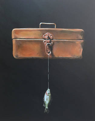 Boxes Painting - Tackle Box by Jeffrey Bess