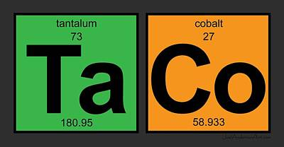 Digital Art - Taco - Periodic Table Of Elements by Joel Anderson