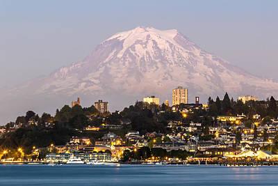 Tacoma And It's Gaurdian Mt Rainier Original
