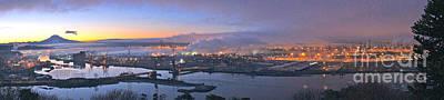 Tacoma Dawn Panorama Art Print