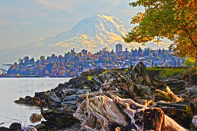 Photograph - Tacoma In The Fall by Jack Moskovita