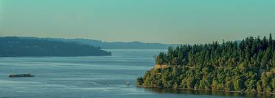 Photograph - Tacoma Narrows And Commencement Bay by E Faithe Lester