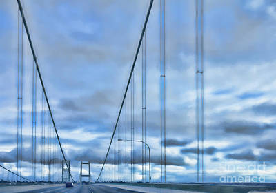 Photograph - Tacoma Narrows Bridge 2 by Jean OKeeffe Macro Abundance Art