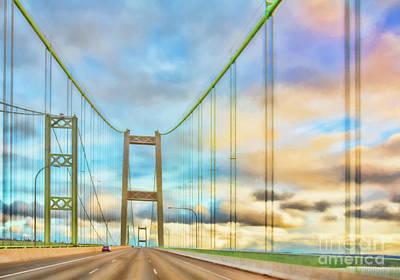 Photograph - Tacoma Narrows Bridge by Jean OKeeffe Macro Abundance Art