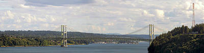Photograph - Tacoma Narrows Bridge Panorama by David Gn