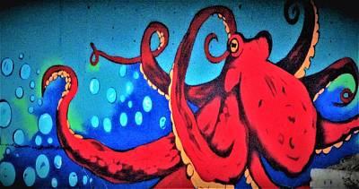 Tacoma Octopus  Art Print