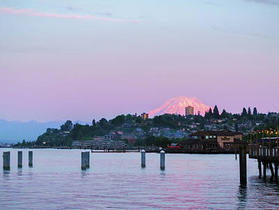 Photograph - Tacoma Sunset by Ken Stanback