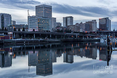 Tacoma Waterfront,washington Art Print