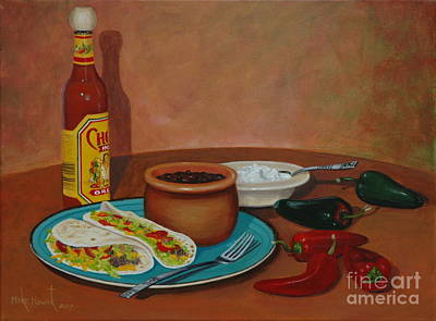 Painting - Tacos And Beans by Michael Nowak
