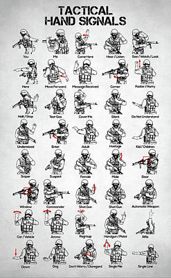 Photograph - Tactical Hand Signals by Taylan Apukovska