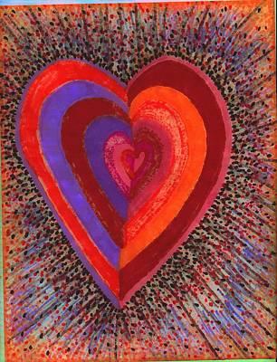 Tada Heart Art Print by Brenda Adams