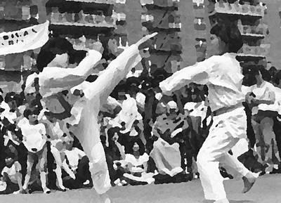 Taekwondo Art Print by Charles Chin