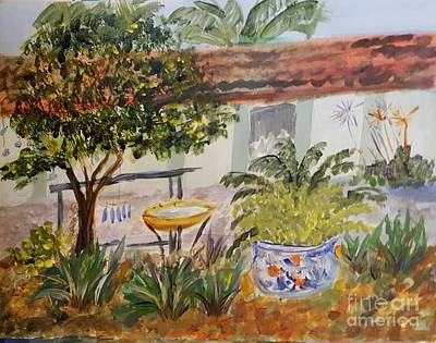Painting - Taffy's Garden by Donna Walsh