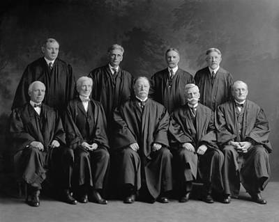 Chief Justice Photograph - Taft Court. United States Supreme Court by Everett