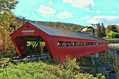 Photograph - Taftsville Covered Bridge by Allen Beatty