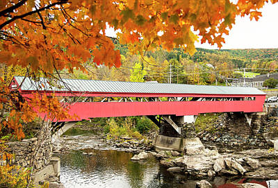 Photograph - Taftsville Covered Bridge by Gordon Ripley