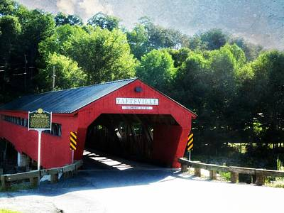 Photograph - Taftsville Covered Bridge by Robin Regan