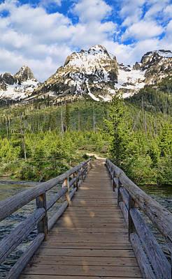 Photograph - Taggart Lake Bridge by Dan Sproul