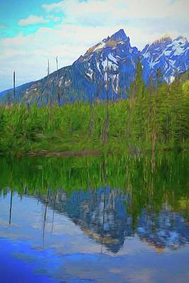 Painting - Taggart Lake Reflection by Dan Sproul