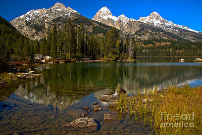 Photograph - Taggart Lake Reflections by Adam Jewell