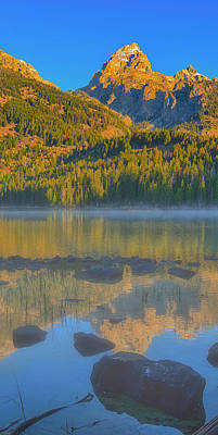 Photograph - Taggart Lake Triptych Center Panel by Greg Norrell