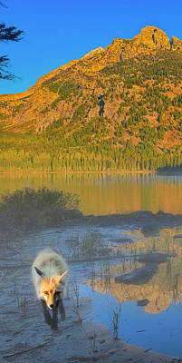 Teton Photograph - Taggart Lake Triptych Left Panel by Greg Norrell