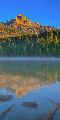 Photograph - Taggart Lake Triptych Right Panel by Greg Norrell