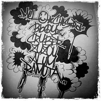 Drawing - Tagging by Zyzou Fukuno Daisuke