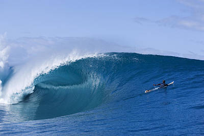 Big Wave Photograph - Tahiti As Good As It Gets by Sean Davey
